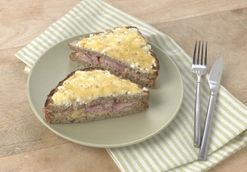 Croque monsieur met cottage cheese