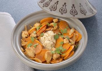 Kalkoentajine met wortel