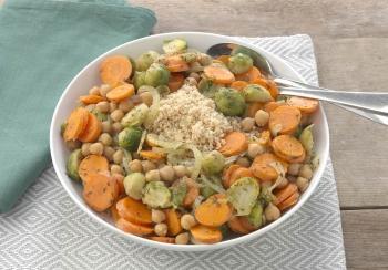 Kikkererwten groentestoofpot met couscous