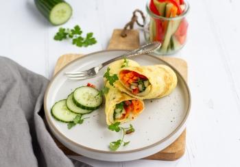 Omelet wrap met groenten