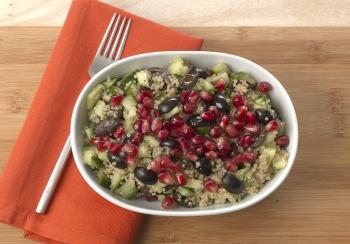 Quinoa met granaatappelpitjes