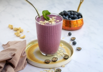 Havermout & blauwe bessen smoothie