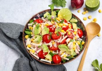Mexicaanse salade met kipreepjes