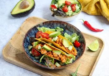 Taco's met tofugehakt & salade